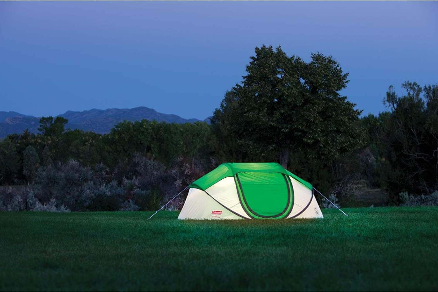 coleman pop up tent outdoor