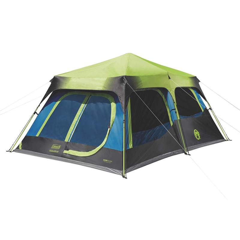 Coleman 10 person instant cabin dark room tent