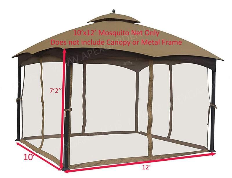 APEX GARDEN Universal 10x10 Canopy mosquito netting