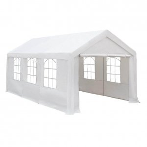 Abba Patio – Car Canopy Shelter with Windows and Sidewalls 10 x 20 Feet