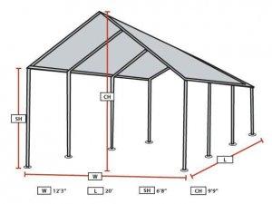 Car Canopy Frame Diagram