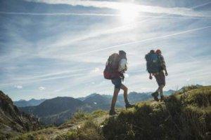 Hiking with tarp