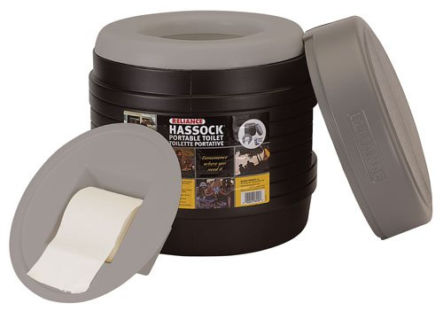 Reliance Products Hassock Portable Lightweight Self-Contained Toilet