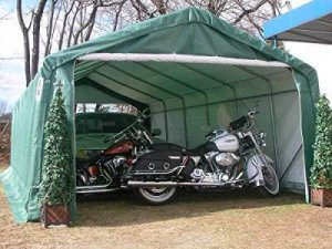 Rhino Shelters-Extended Car Canopy 12 x 24 feet