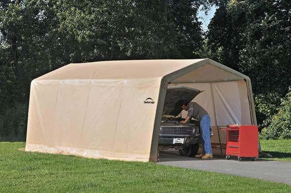 ShelterLogic Autoshelter 10x20 feet peak roof