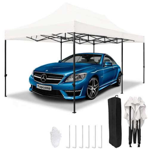 TopCamp 10x20 ft Pop up Car Canopy