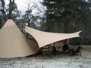 tarp in the snow