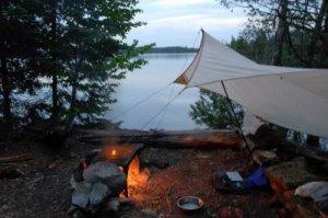 tarp camp fire