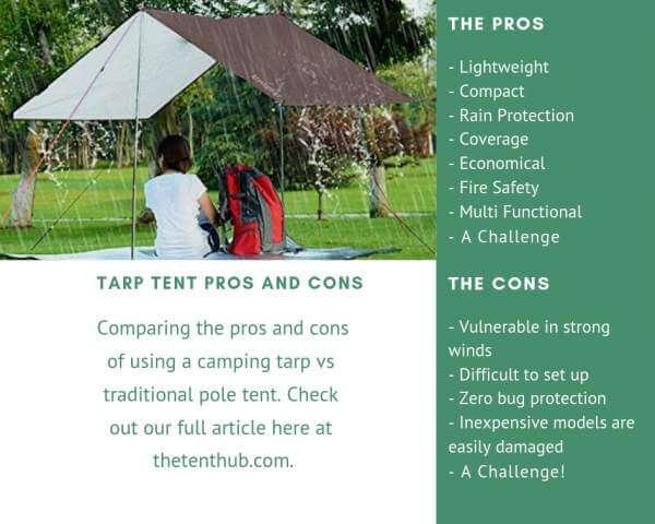 tarp vs tent comparison table