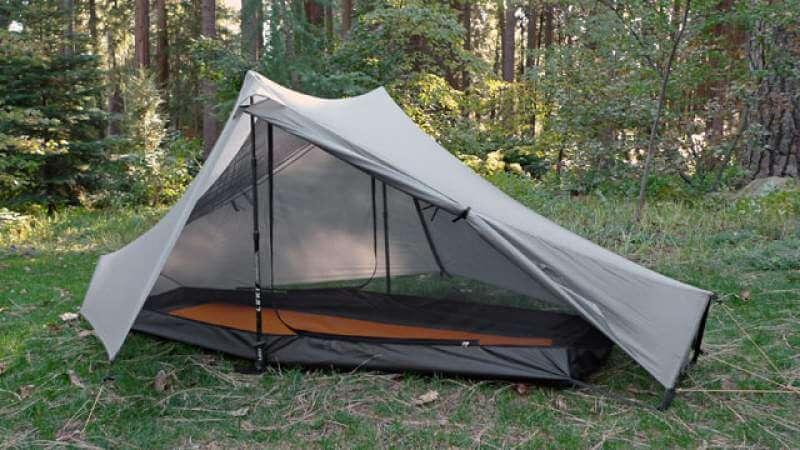tarp with tent poles