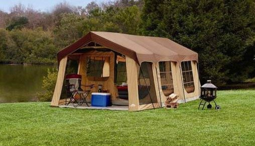 10 person log cabin tent