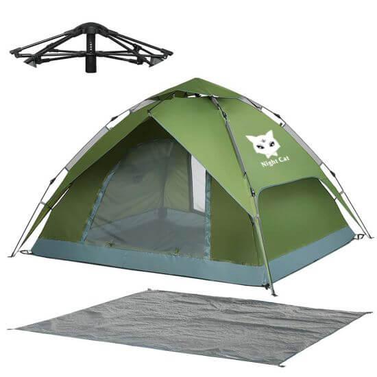 Night Cat Waterproof Pop Up Tent