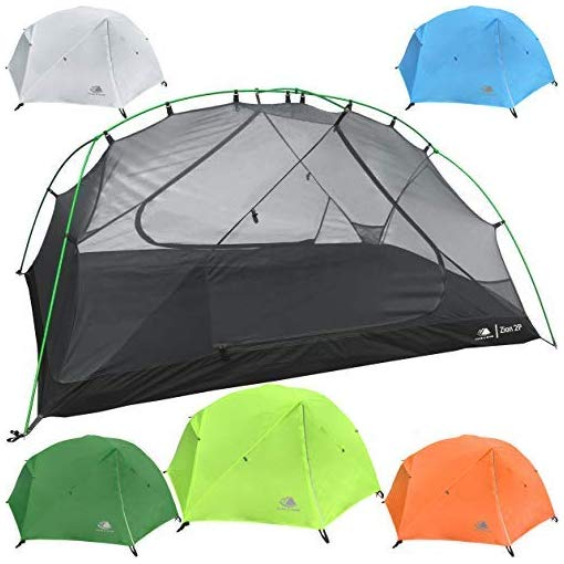 Hyke & Byke Zion 1 and 2 Person Backpacking Tents with Footprint