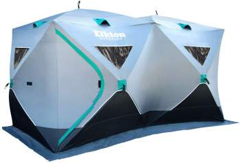 Elkton Outdoors Portable 3-8 Person Ice Fishing Tent