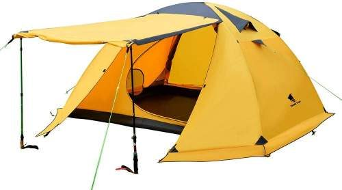 GEERTOP Portable 4 Person Backpacking 4 Season Tent