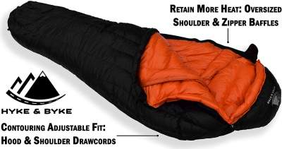 Hyke & Byke Hydrophobic Sleeping Bag