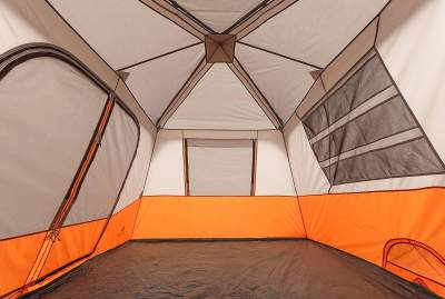 2 room space Ozark Trail 8 Person Instant Cabin Tent
