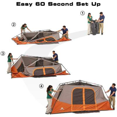 Easy Set Up Ozark Trail 8 Person Instant Cabin Tent