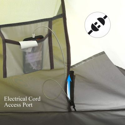 Electrical cord access Hui Lingyang Pop Up Tent
