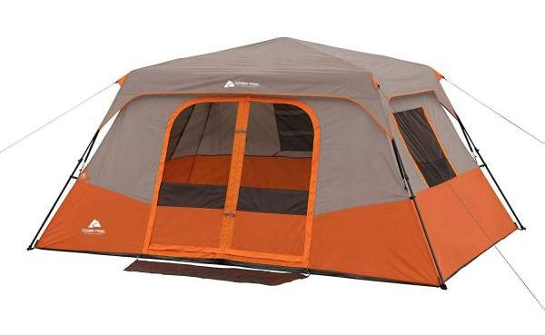 Tent Pitched Ozark Trail 8 Person Instant Cabin Tent