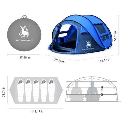 the dimensions Hui Lingyang Pop Up Tent
