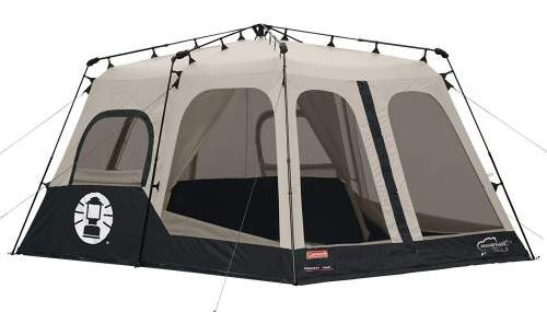 Meshed windows and walls Coleman 8 Person Instant Tent