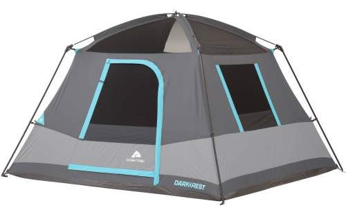 No Rainfly Ozark Trail 6 Person Dark Rest Cabin Tent