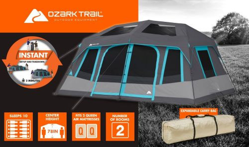 Ozark Trail 10 Person Dark Rest Instant Cabin Tent Review