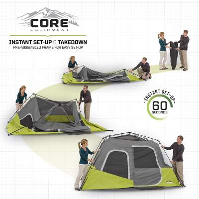 Pitching the CORE 6 Person Instant Cabin Tent