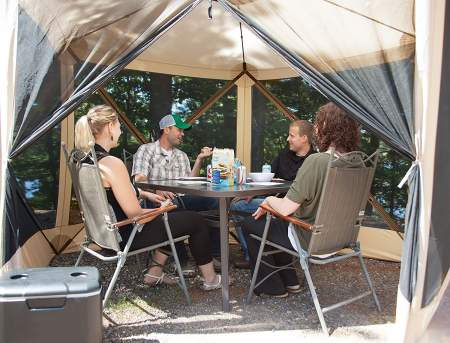 Sheltered in gazelle g5 tent