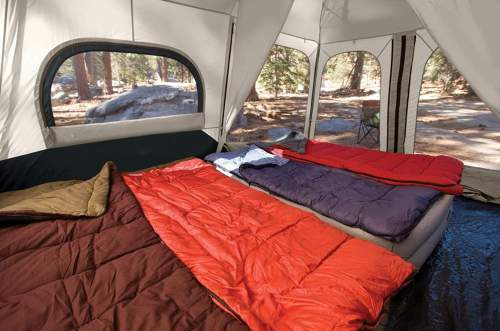 Spacious inside Coleman 8 Person Instant Tent