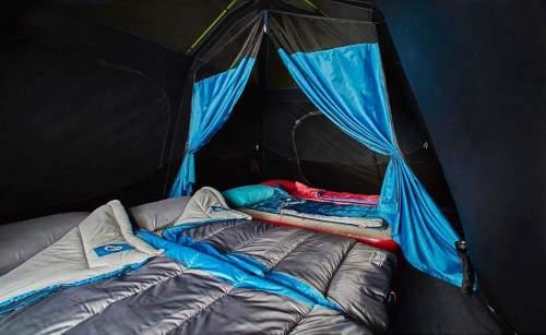 dark room sleeping area Coleman 10 Person Cabin