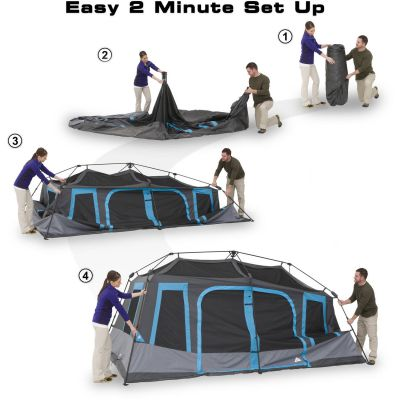 picthing the Ozark Trail 10 Person Dark Rest