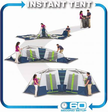 pitching campvalley 10 person tent