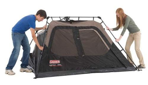 set up 2nd step Coleman 4 Person Instant Tent