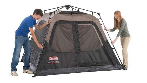 set up 3rd step Coleman 4 Person Instant Tent