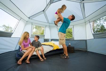 spacious rooms ozark 8 person hexagon tent