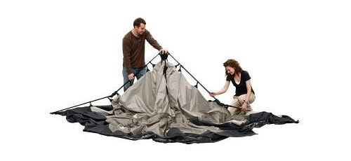 step 2 pitch Coleman 8 Person Instant Tent