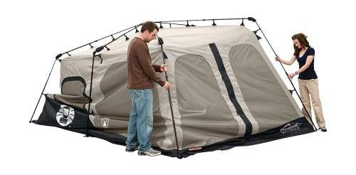 Secure the hinges Coleman 8 person tent