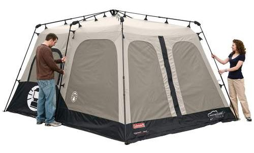 Fully Expanded Tent Frame Coleman 8 Person Tent