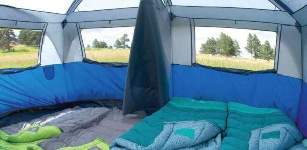 Inner view coleman hampton tent