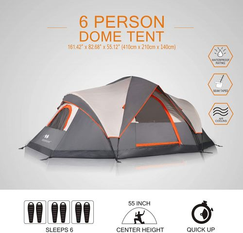 Mobihome Water Resistant Family Camping Tent