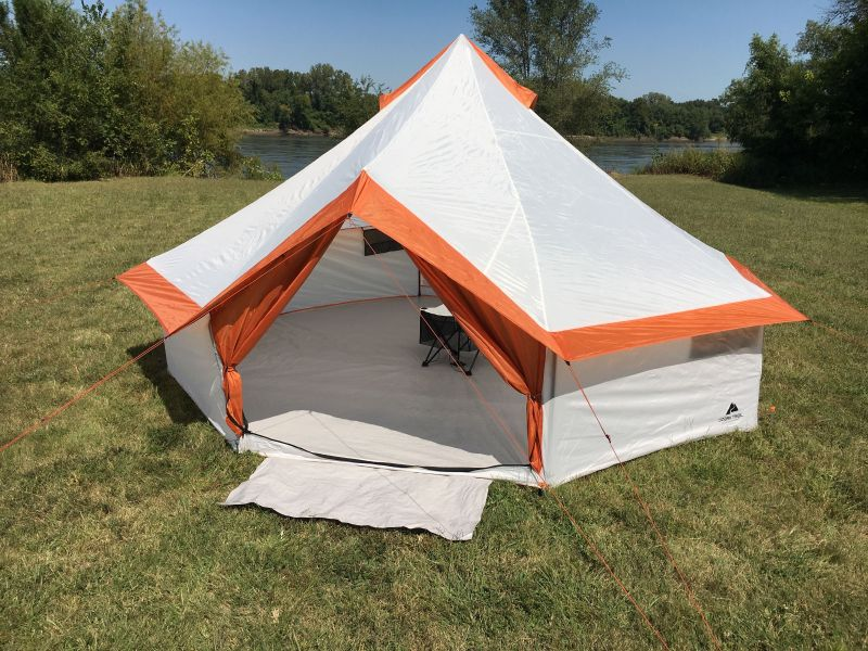 ozark yurt tent pitched outside