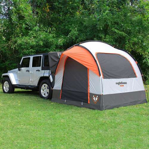 rightline gear suv tent attached to jeep