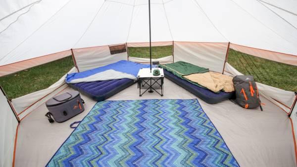 inside view of ozark yurt tent