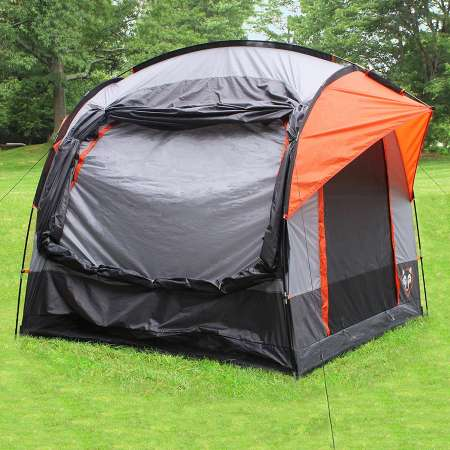 rightline gear suv tent pitched alone