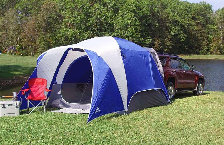 ozark suv tent on black suv
