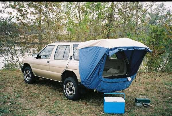 suv tent at campsite