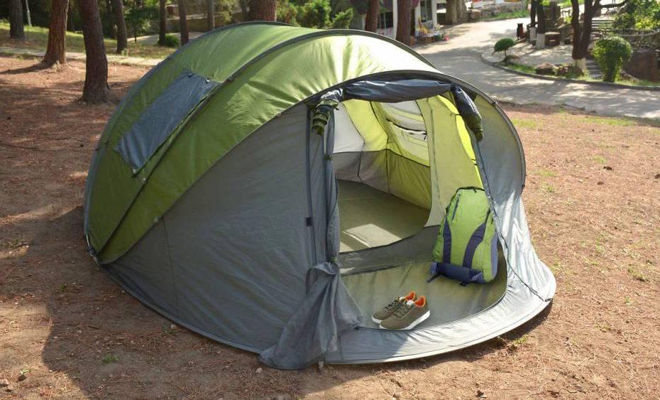 Ayamaya Pop Up Tent pitched outdoors