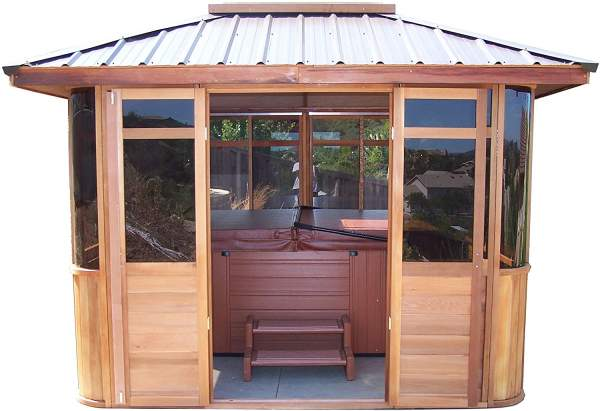 Cedarview 10 x 10 Hot Tub Gazebo Villa
